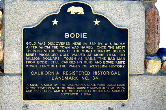 Bodie Town Sign