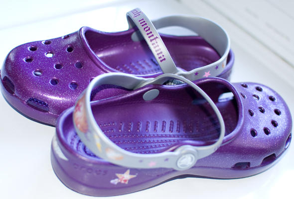 purplecrocs2 New Garden Shoes