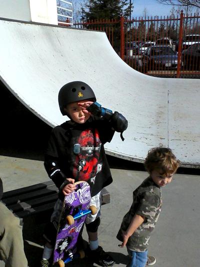 Hunter & Westly at skateboard park