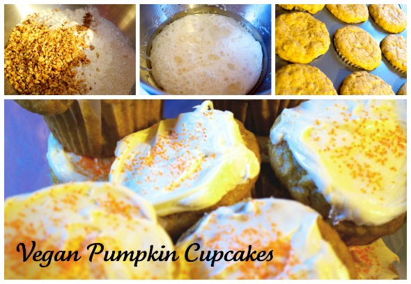 vegpumpmain Meatless Mondays   Vegan Pumpkin Cupcakes