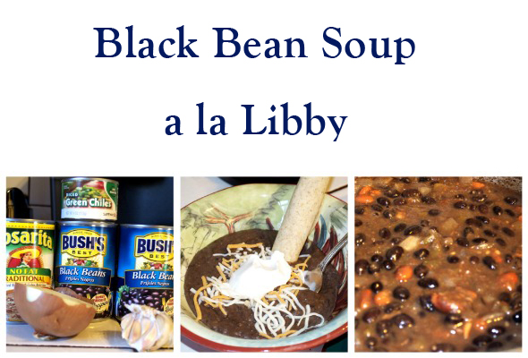 beansoupmain Meatless Monday   Black Bean Soup a la Libby
