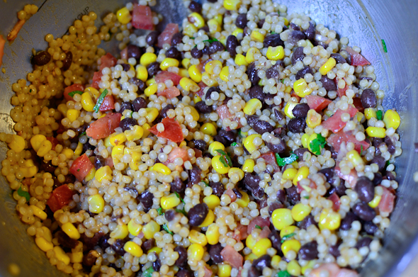 cous 6 Couscous, Black Bean & Corn Salad